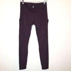 Lululemon maroon leggings (Z40416)  size 6